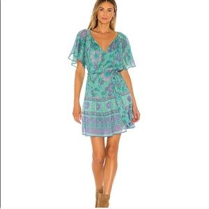 Spell x Revolve Buttercup Mini Dress in Ocean